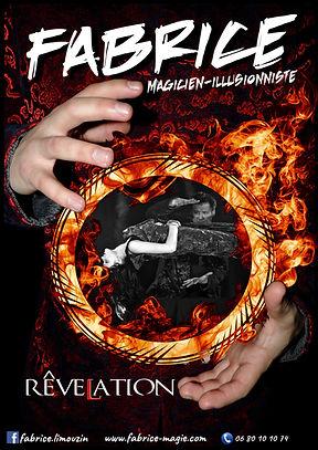 """Affiche du spectacle """"RêveLation"""", du Magicien-Illusionniste Fabrice Limouzin"""