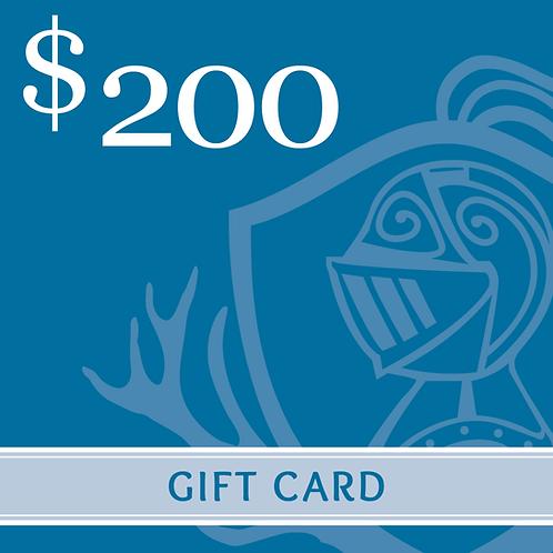 Gift Card -$200