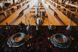 Good Knights Weddings - feast hall