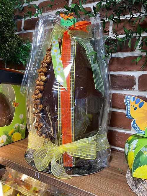 Oeuf géant chocolat noir avec décoration (vide)