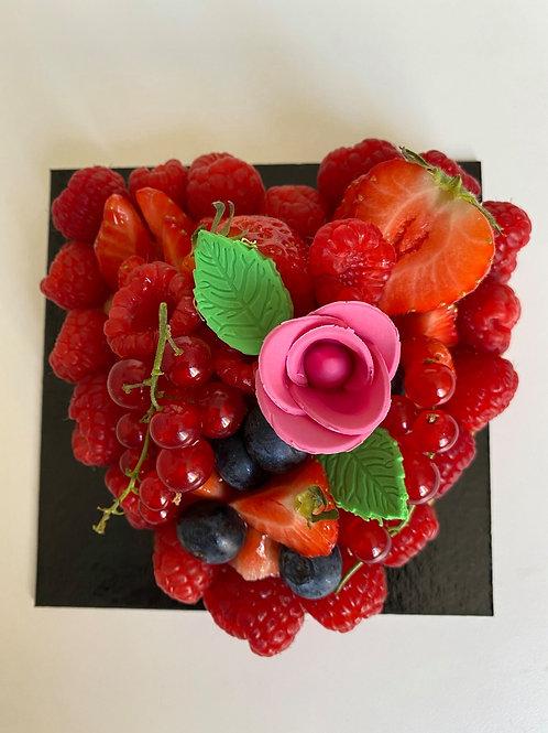 Tarte aux fraises en forme de coeur (2/3 pers)