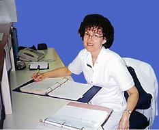 Doris Morissette on duty as Registered Nurse 1999