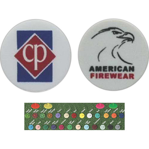 Dime Sized Ball Marker - 2 Color Imprint