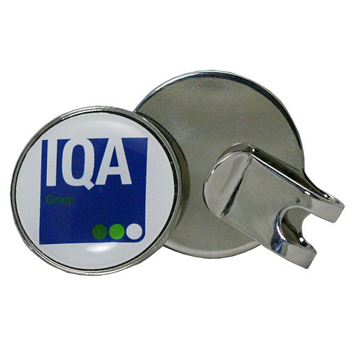 Hat Clip Ball Marker - Full Color Imprint