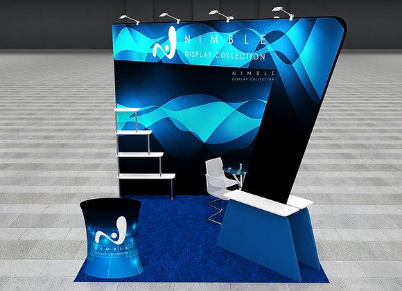 10X10 Tension Fabric Exhibit Booth (Self-Build) AENIM350