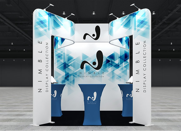 10X10 Tension Fabric Exhibit Booth (Self-Build) AENIM351