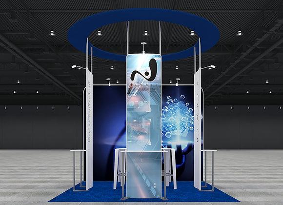 10X10 Tension Fabric Exhibit Booth (Self-Build) AENIM355