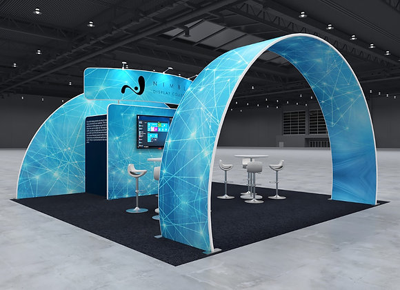 20x20 Tension Fabric Exhibit Booth (Self-Build) AENIM75