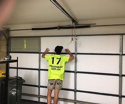 Whisper panels to metal garage door 1.JP