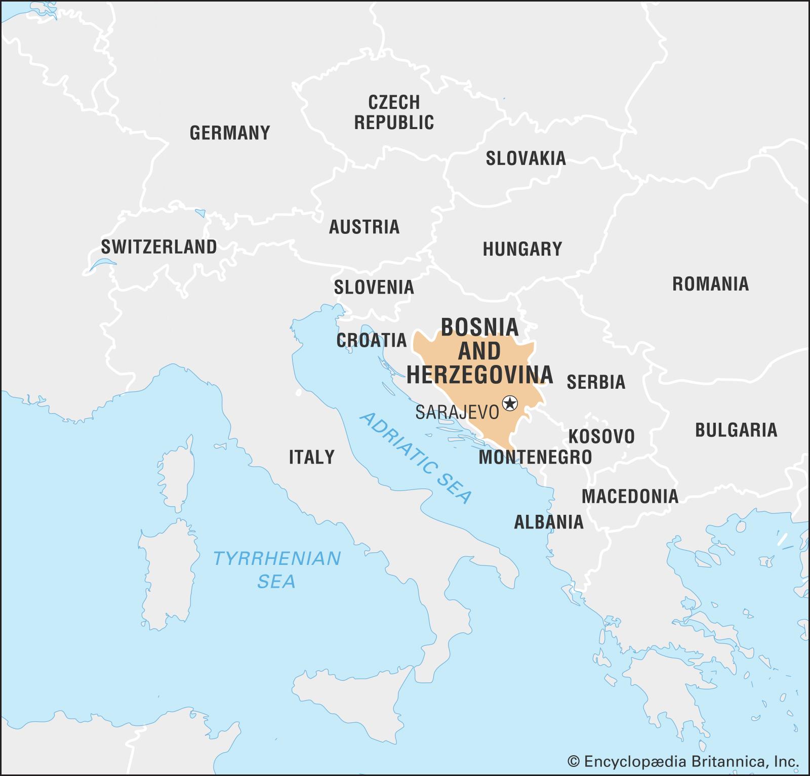 Bosna map
