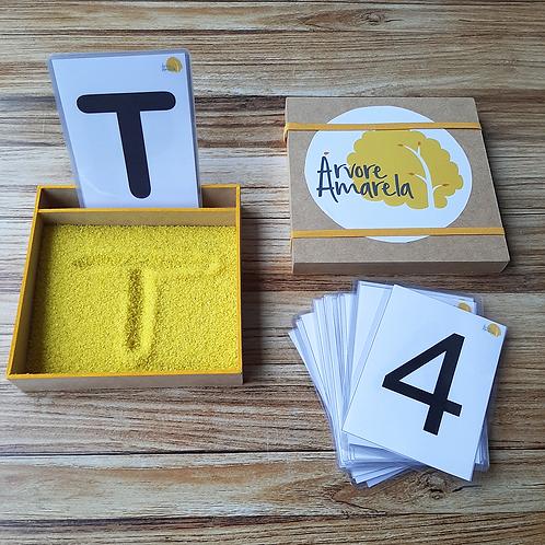 Caixinha de Areia Alfabeto & Números Negrito