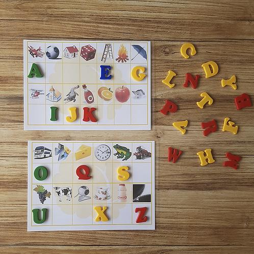 Kit Encaixe as Letras