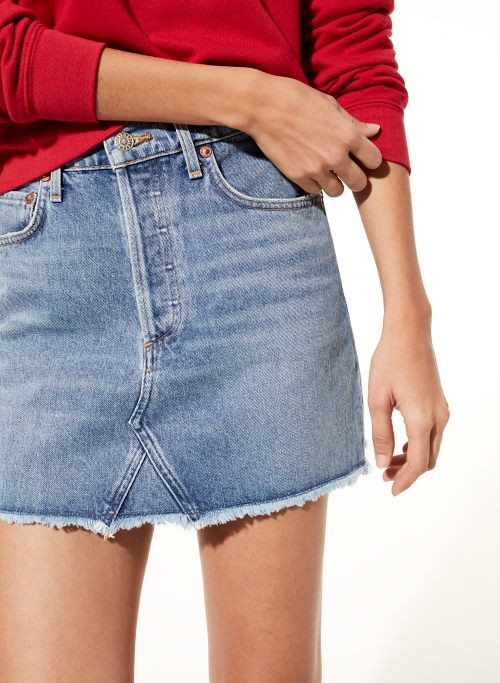 Agolde Quinn Devotee Denim Skirt from Aritzia
