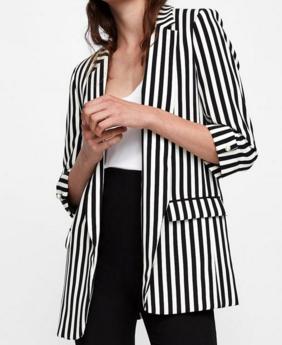 Striped Blazer - ZARA