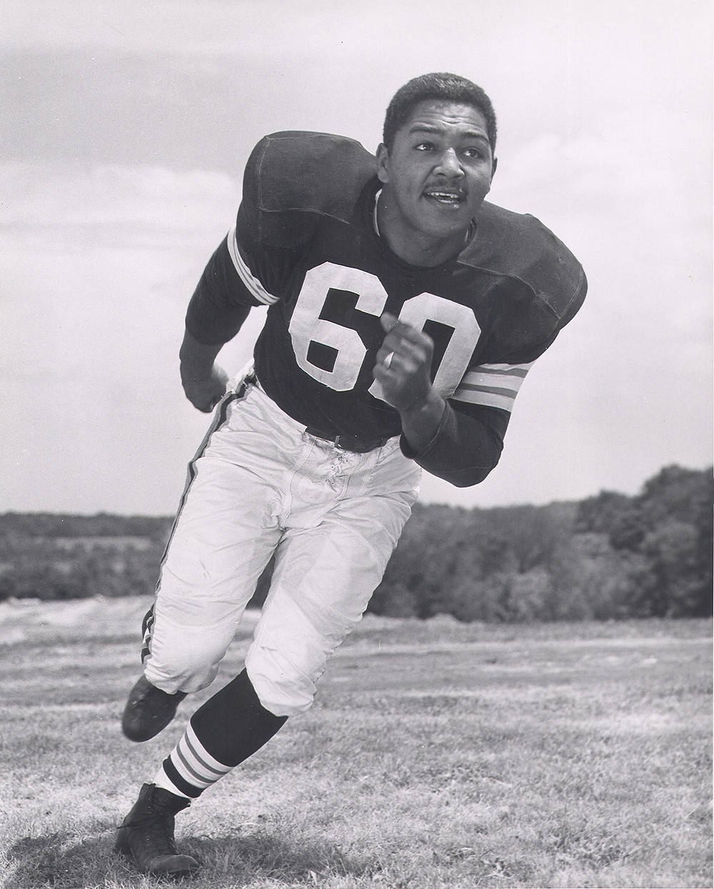 Harold in his Cleveland Browns uniform in 1954