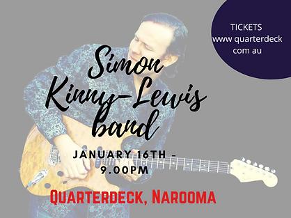 Simon Kinny-Lewis band promo 16 Jan 2021