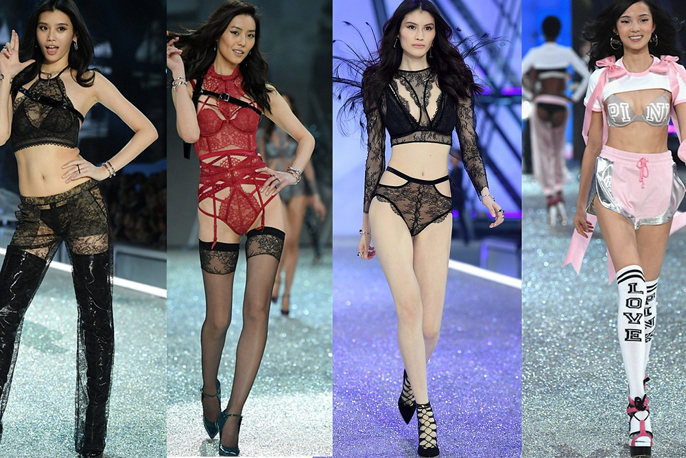 Victoria's Secret's modern take on China's Four Great Beauties. Image collage via sina.english.