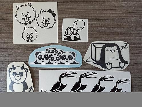 Lot Stickers Thème Animaux