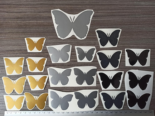 Lot 21 Stickers Papillons