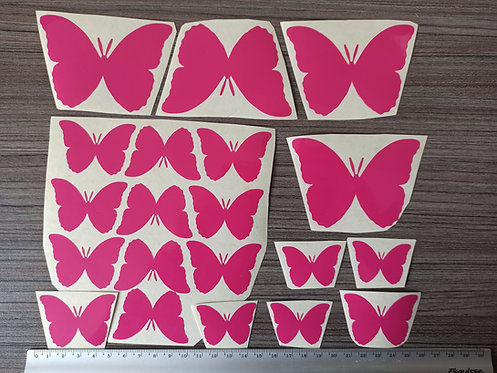 Lot 20 Stickers Papillons Roses