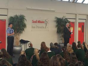 Garda Representatives Address School Assembly