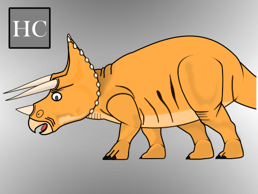 2D Triceratops Character