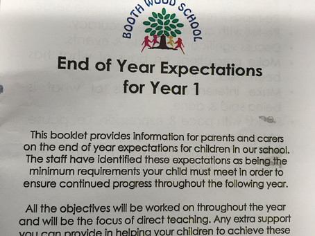 End of Year 1 Expectations