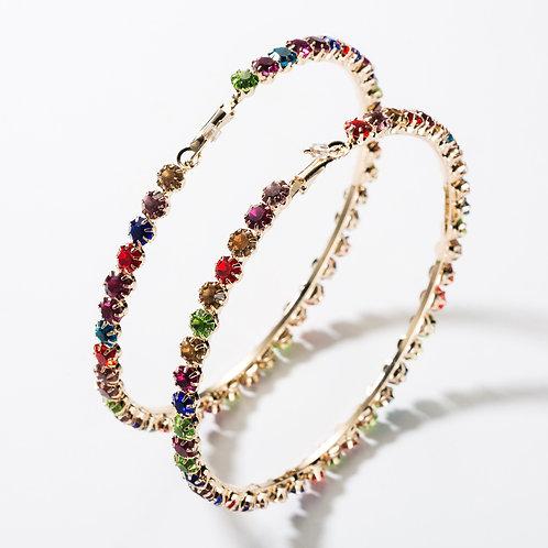 Multi Color Bling Hoops