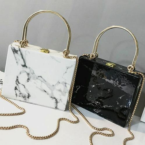 Marble Glam Box Handbag