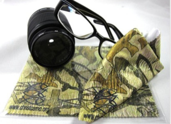 CHRISTIAN CAMO MICROFIBER LENS CLEANING CLOTH