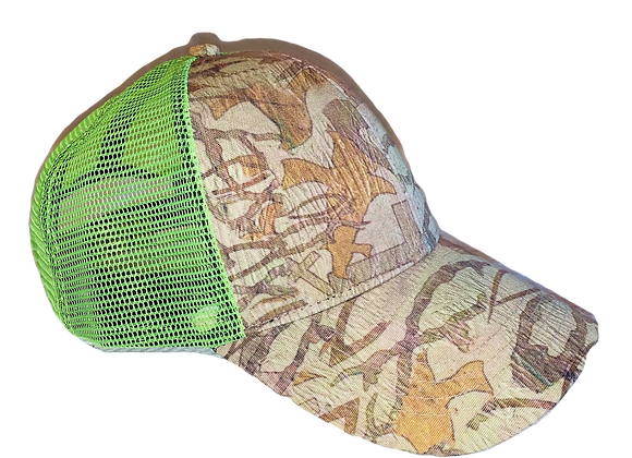 CHRISTIAN CAMO ™Safety Green Cap With 100% Mesh Back