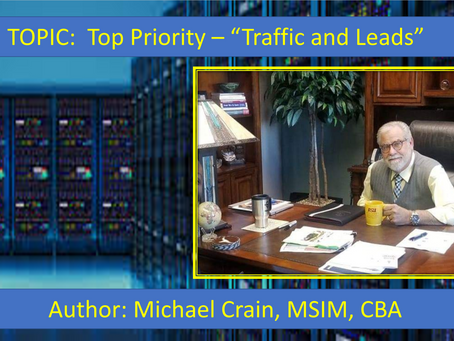 "Top Priority – ""Traffic and Leads"""
