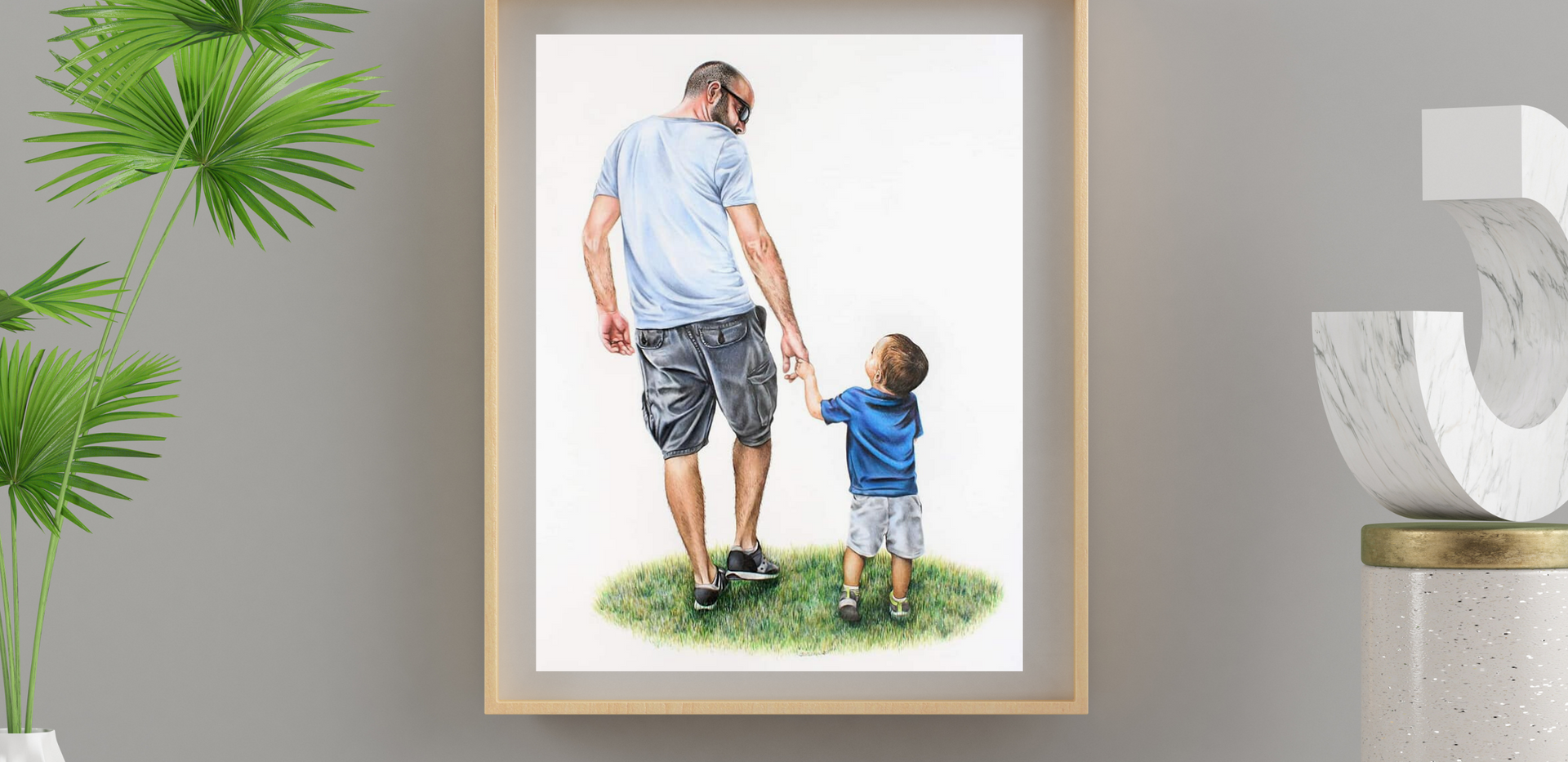 Family Portrait - Father & Son