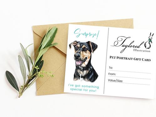 10x12 Pet Portrait Gift Card
