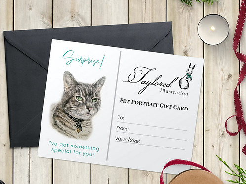 16x20 Pet Portrait Gift Card