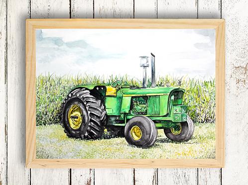 Trusty Tractor - Giclée Print