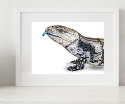 Blue Tongue Skink Pet Portrait, Reptile Art, Lizard artwork, Draw my lizard, Commission an artist to