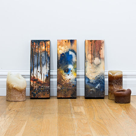 TayloredIllustration blue triptych