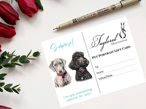 16x20 Double Pet Portrait Gift Card