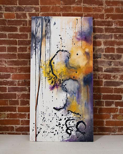 TayloredIllustration purple and yellow encaustic
