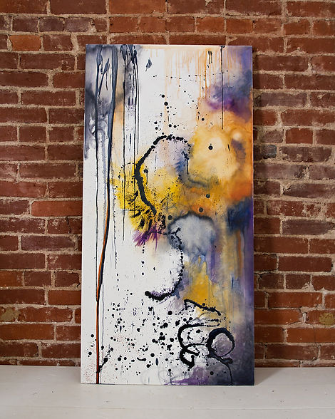 TayloredIllustration purple and yellow encaustic