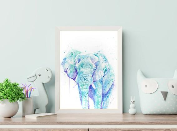 Elephant Nursery Art