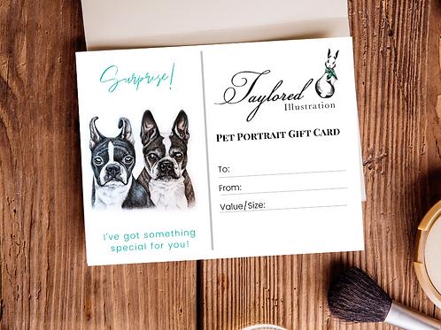 11x14 Double Pet Portrait Gift Card