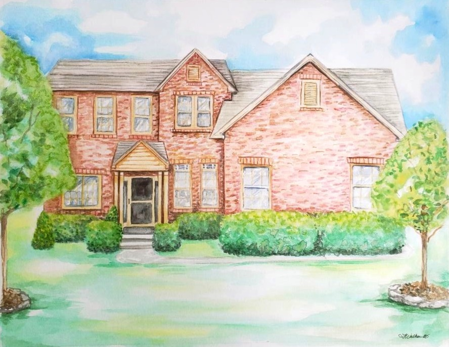 Watercolor painting of First Home