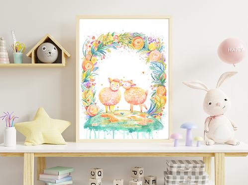 Sibling Sheep- Giclée Print