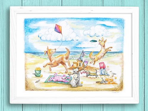 Dog Days of Summer- Giclée Print