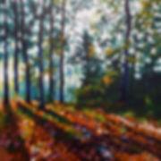 tree painting autumn light