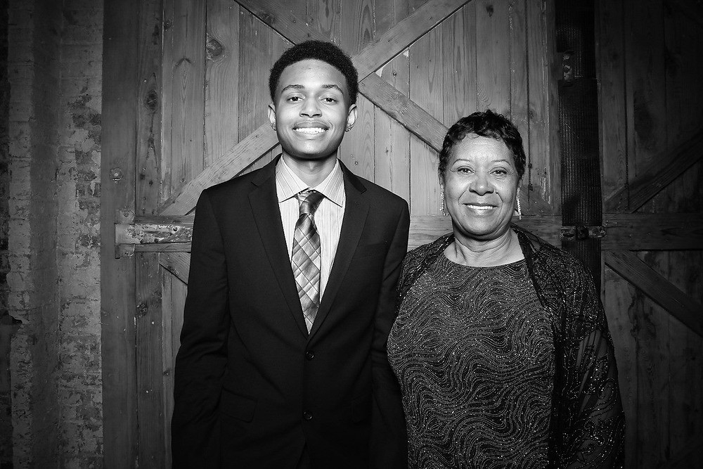 GED student Marcell and GED instructor Mary Turley looking classy at our Annual Gala!