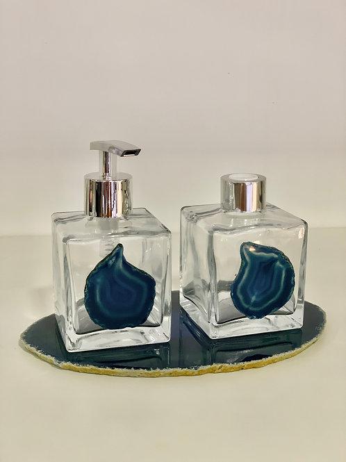 Saboneteira e Difusor Azul III