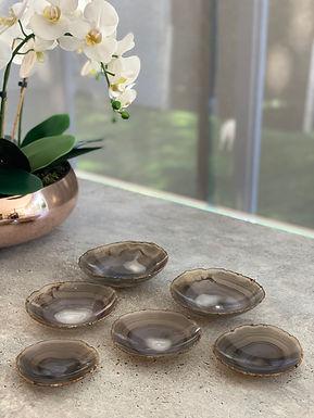 Tigelas em Ágata cinza escuro - bowl